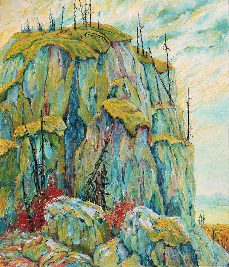Sloko Bluff, 71cm x 61cm, Oil on Board    SOLD