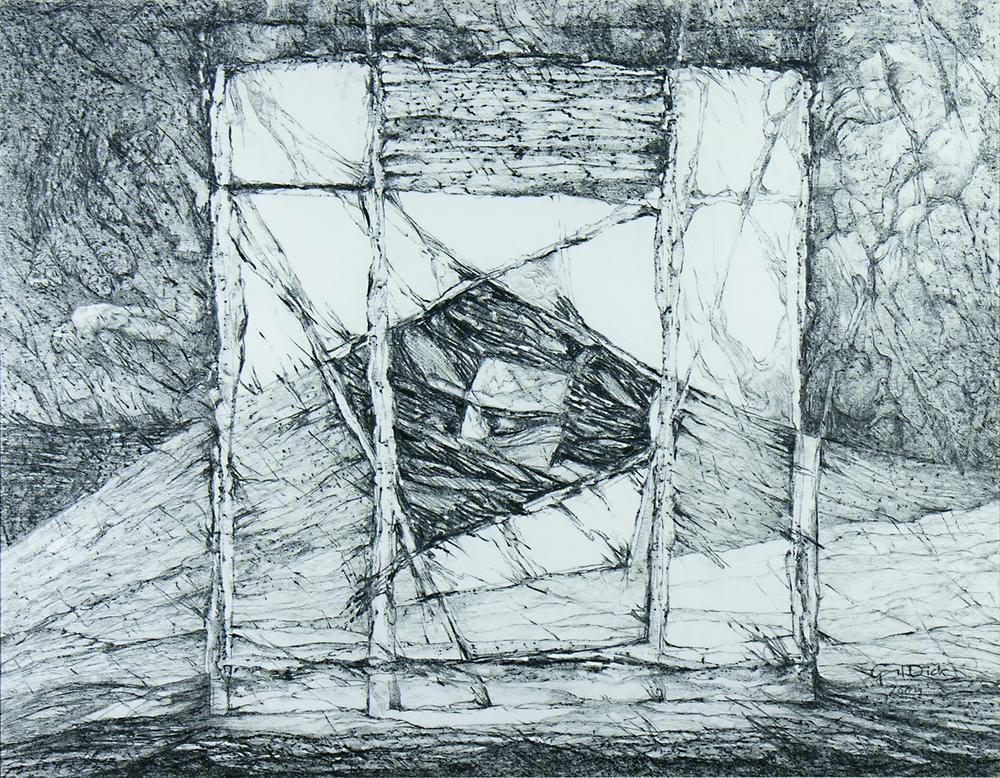 The Journey, 65cm x 82cm, Graphite on paper, $1300
