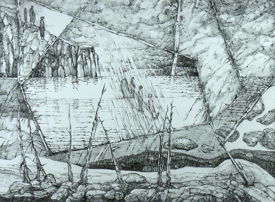 Jurney #2, 53cm x 74cm, Graphite on Paper,  SOLD