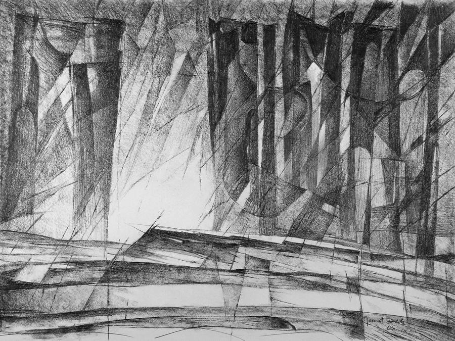 Sentinel, 53cm x 74.5cm, Graphite on Paper, $1500