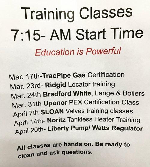 Spring Plumbing Training & Education — Blog — Western Rooter & Plumbing