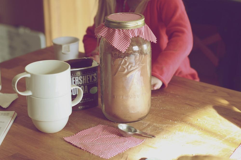 dark hot chocolate with cinnamon