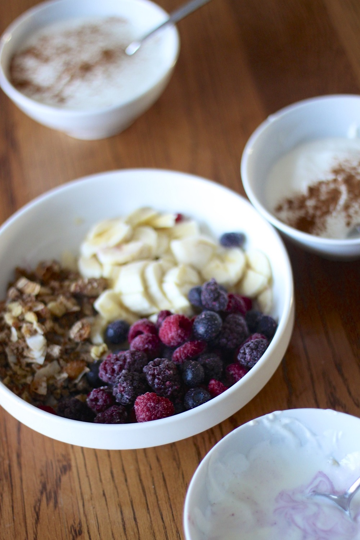 low carb/paleo kids: creating a yogurt bar and more