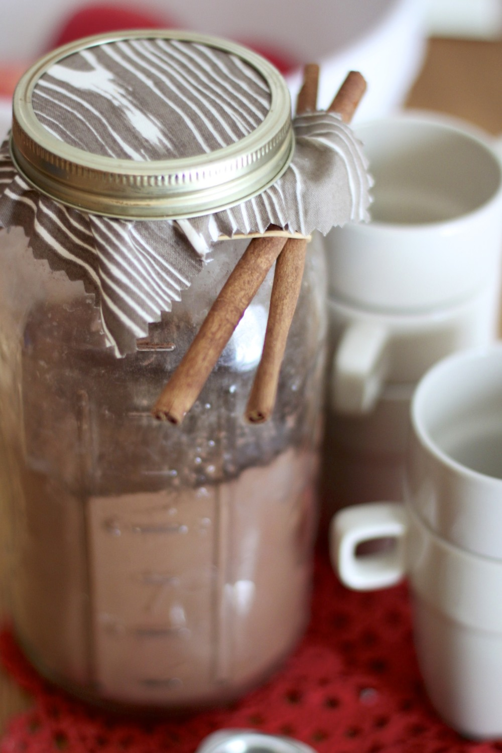 cinnamon coconut hot cocoa mix