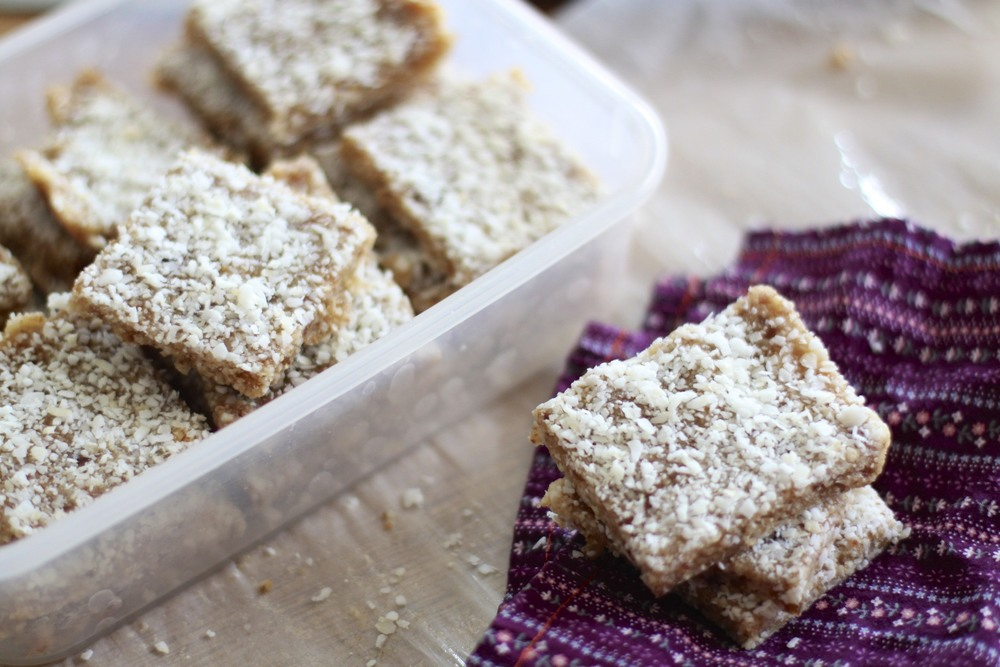homemade coconut larabars