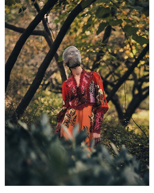 Shot my the amazing @wolfecut Styled by @renee.huffman H/M @jamieh102 - art direction @juleswstylist_ sneak Preview- Mask @gucci  Dress @gucci #Centralpark #newyork #gucci #fashion #mask