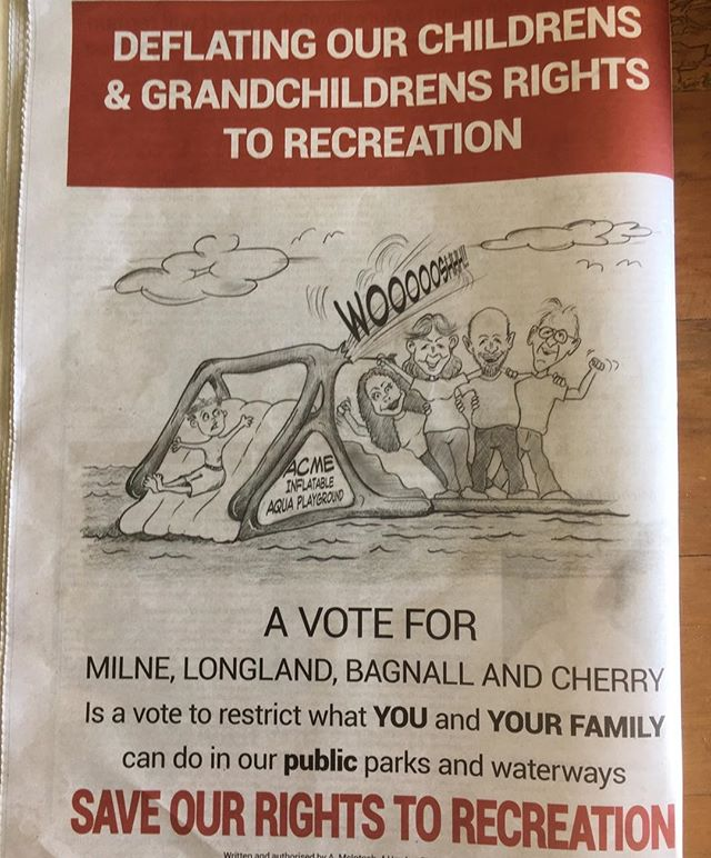 We found this ad in the paper, it's nice to know that there's anonymous people out there that support us! I hope you all voted wisely yesterday! #JEBHgroupmorrons #tweed #aquaparkintweed