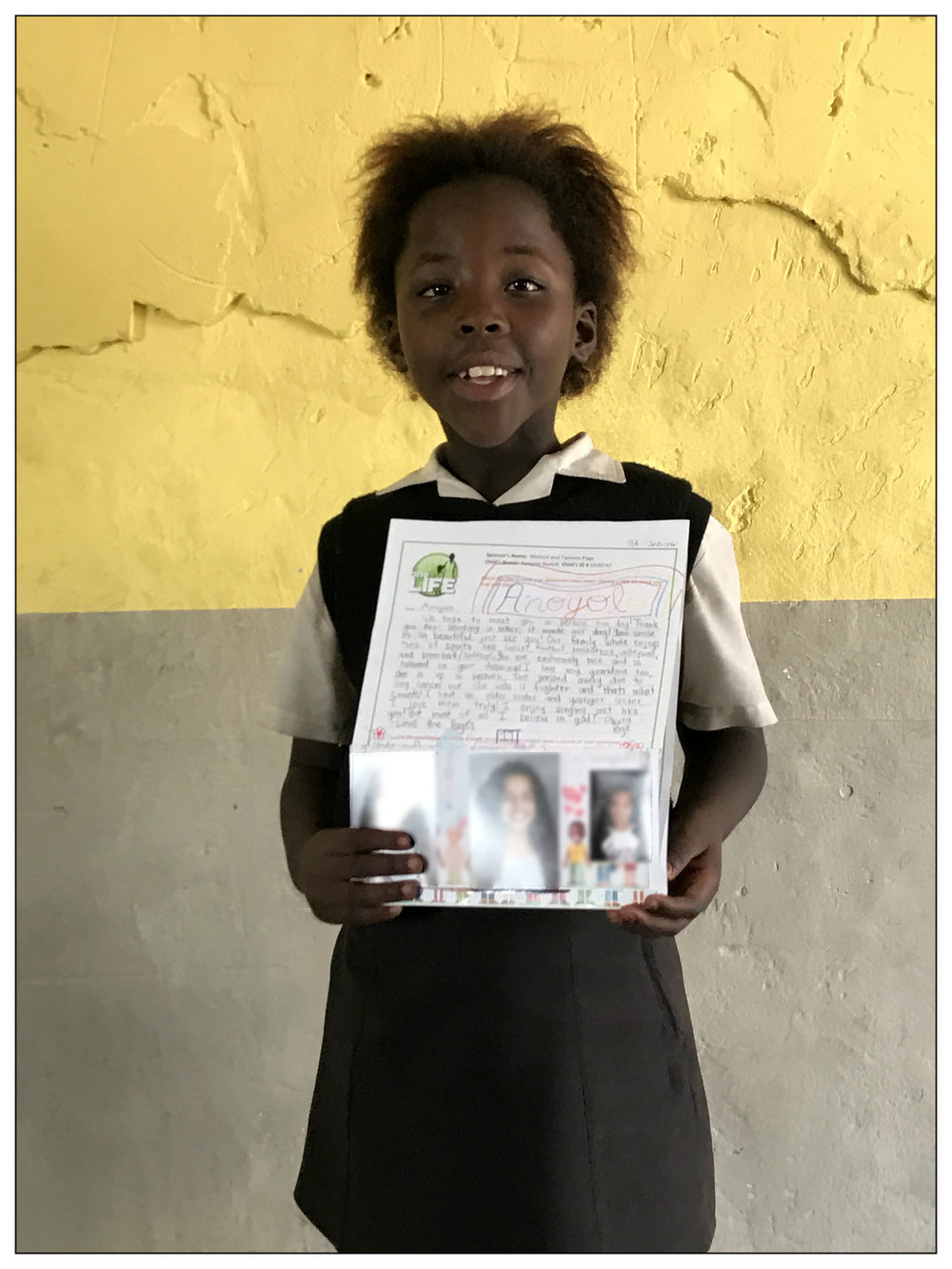 In South Africa, Anoyo was very excited to recently receive a letter from her sponsor. At Homework Club she excitedly read it out loud to all her friends.