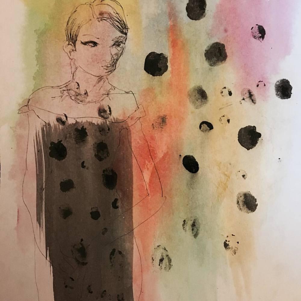 pigment, ink, pen on paper