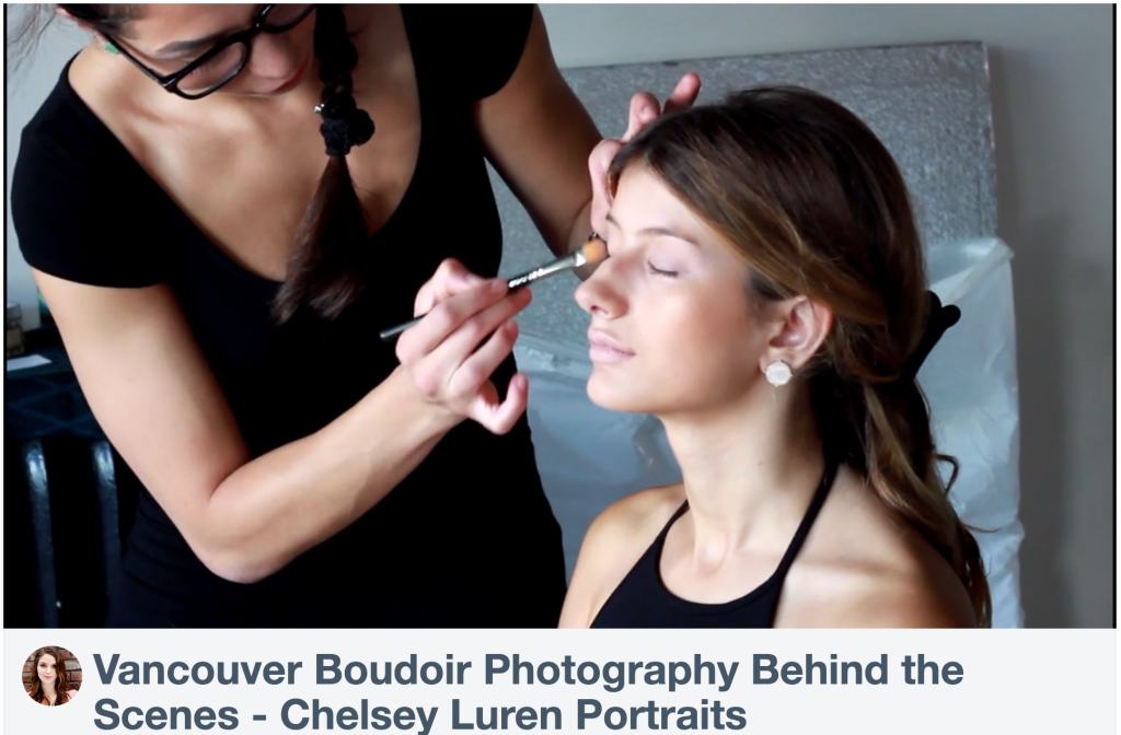 Boudoir Photographer Vancouver - Chelsey Luren Portraits - Behind the Scenes Video