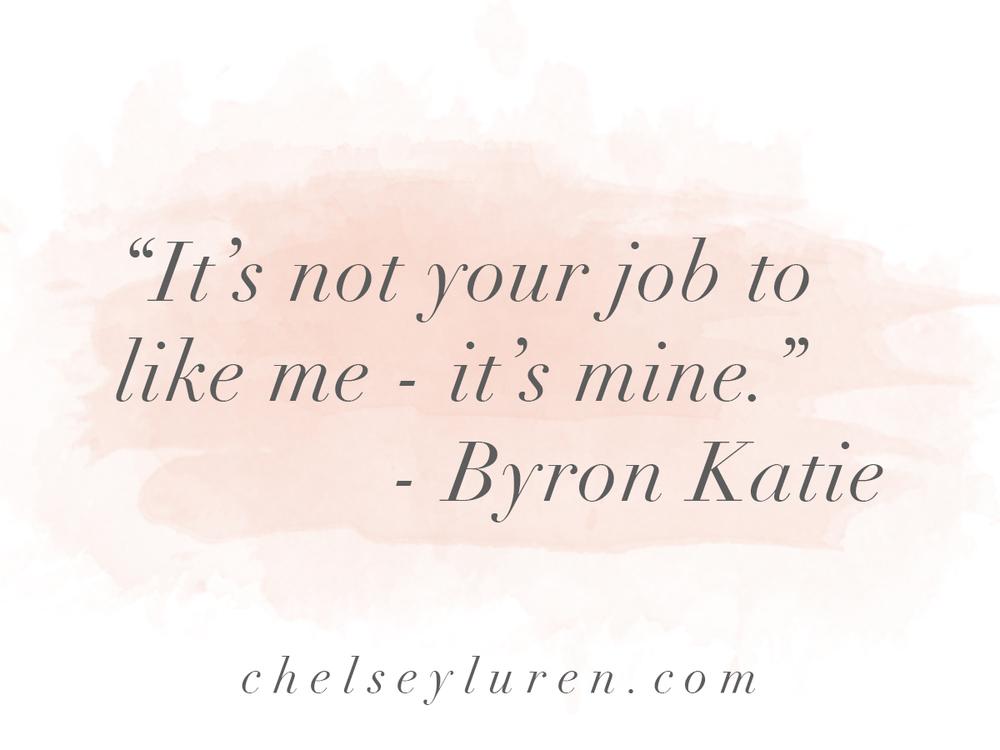 Byron Katie Quote - Vancouver boudoir photoshoot by Chelsey Luren Portraits Chelsey Luren Dixon