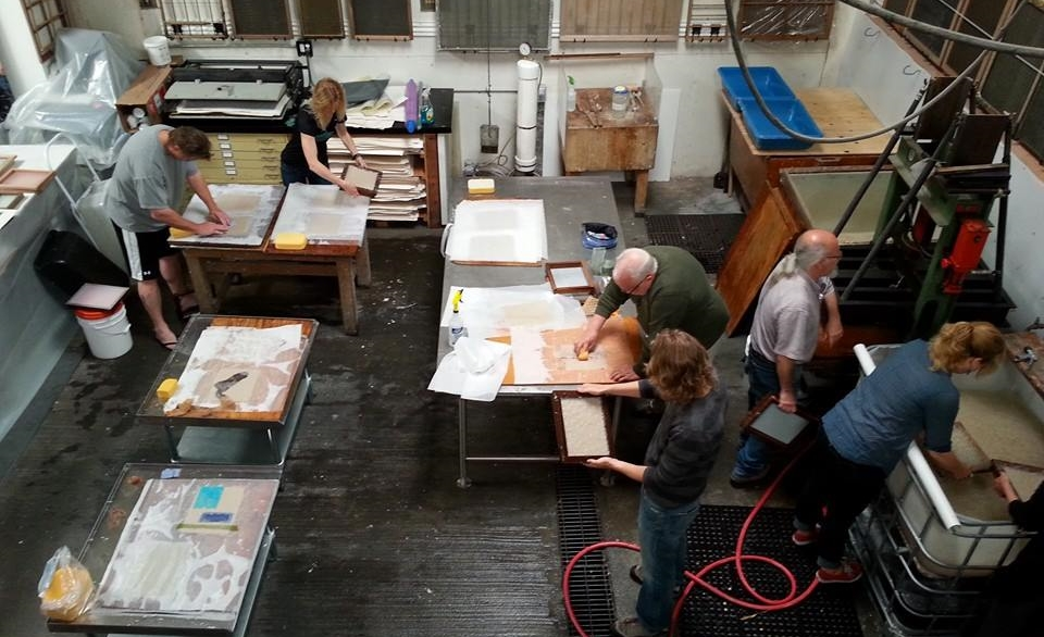 Introduction to Papermaking, Workshop taught by Michelle Wilson at Magnolia Editions, Oakland, CA