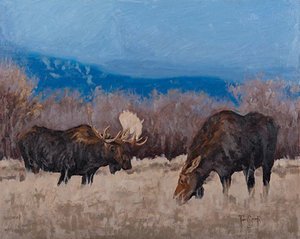Moose Couple (Sold)
