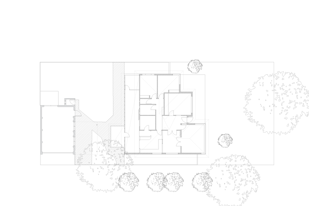 existing building, ground floor plan
