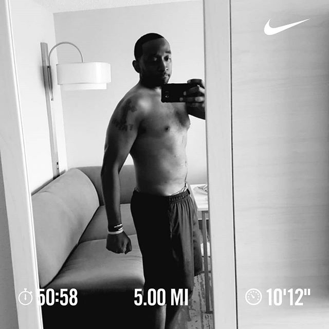 Goal is to lean out and get sub-10 min/mile @5miles consistently. 💯 ------------------------------------------------------------------------ #Fall #running #positivevibesonly #runnerlife #purpose #dontgiveup #instarunners #inspiration #runfamily #2018 #madinATL #borninWestLou #socialentrepreneur #atlanta #startup #runATL #runChi #runNYC  #runLA #running #nikeplus #stylerunner #worldrunners #runrevolution #runolution #startwithwhy #instagood #diabetes #fightobesity #stillbelieve