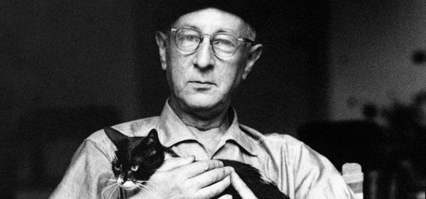 Bohuslav Martinu with his cat, Murik.