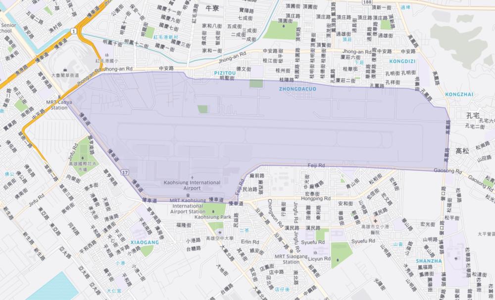 高雄小港機場Uber 上車地點 - 國際入境大廳 - 2號出入口國際入境大廳 - 5號出入口國內線出入口