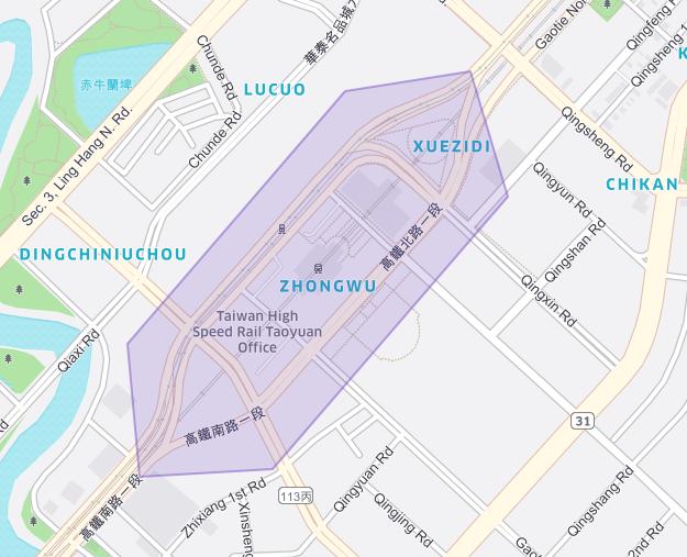 高鐵桃園站Uber 上車地點 - 1 號門8 號門