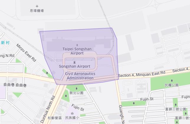 台北松山機場Uber 上車地點 -