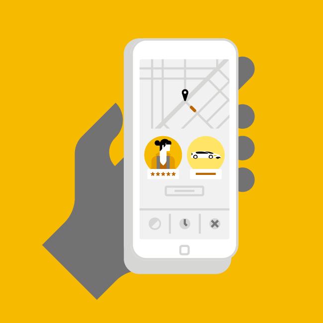 步驟二 - 舊用戶出示乘車紀錄,新用戶現場下載註冊。
