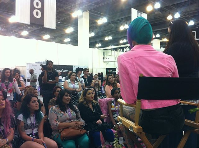 #tb presenting at Phamexpo with #donnamee grad, #jeffreestar