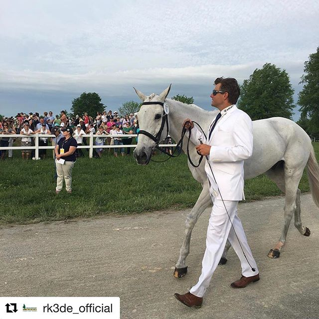 Congrats Boyd, Lucy, and team! Be sure to tune in to watch Crackerjack jump starting at 1 PM #Repost @rk3de_official ・・・ Boyd Martin and Cracker Jack enter the jog. #RK3DE