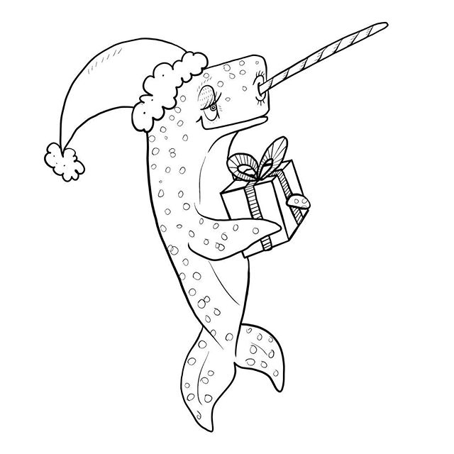 Need a quick activity to keep the littles entertained? Download our free Christmas Narwhal coloring page on our website under the 'Activities' section. You can use it as a jumping off point to talk about what Narwhal might have in his present. Draw little thought bubbles around him and then draw your ideas in there to show your thinking! Better yet, think about what Narwhal might be giving as a gift to each of his Arctic friends! ❤🎄❤