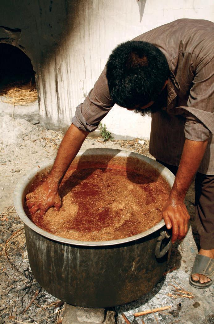Sari being natural dyed