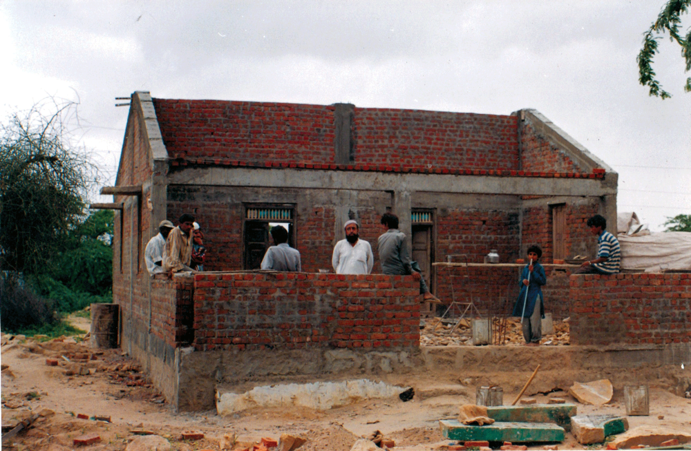 Construction of new home, Ajrakhpur