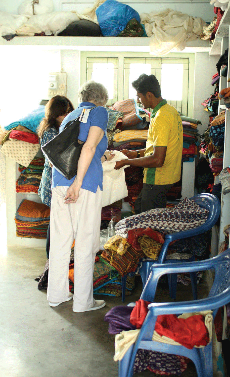 Hundreds of tourists and designers visit Ajrakhpur each year