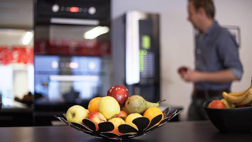 FUN @ WORK   Starts with fruit or coffee