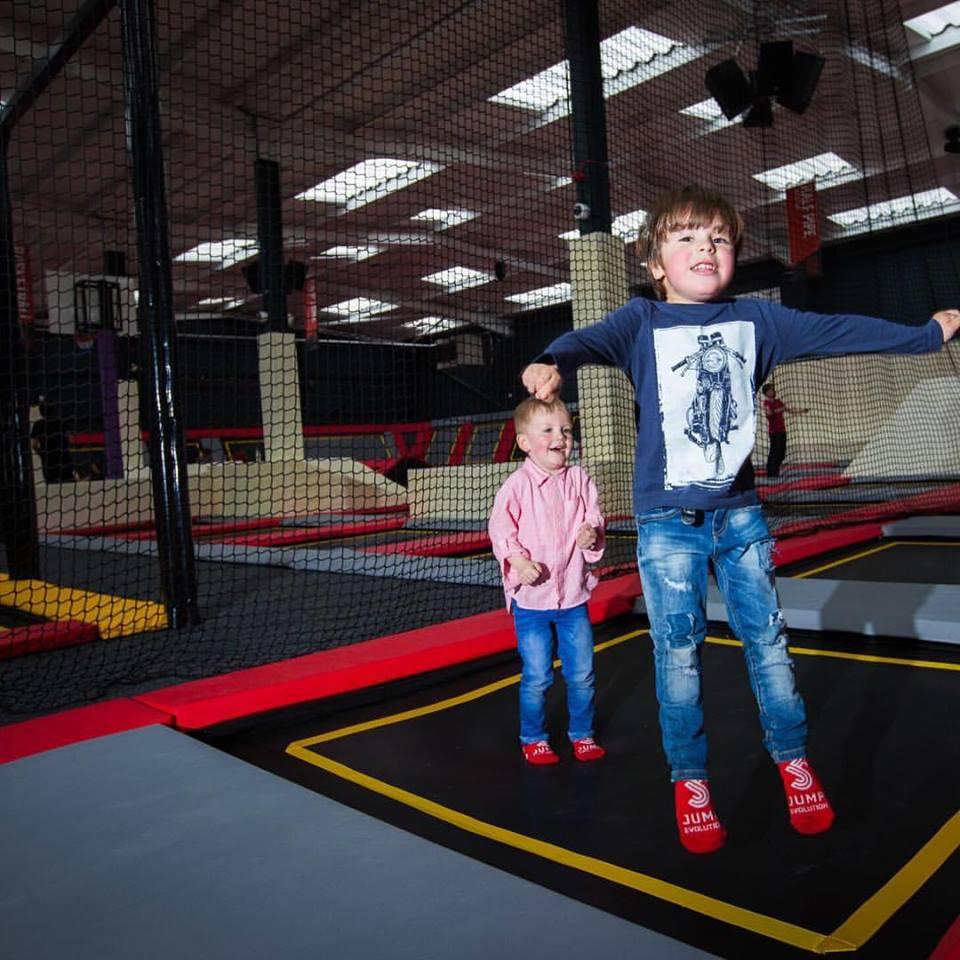 Kids having fun at Jump Evolution Indoor trampoline park in Romford Essex