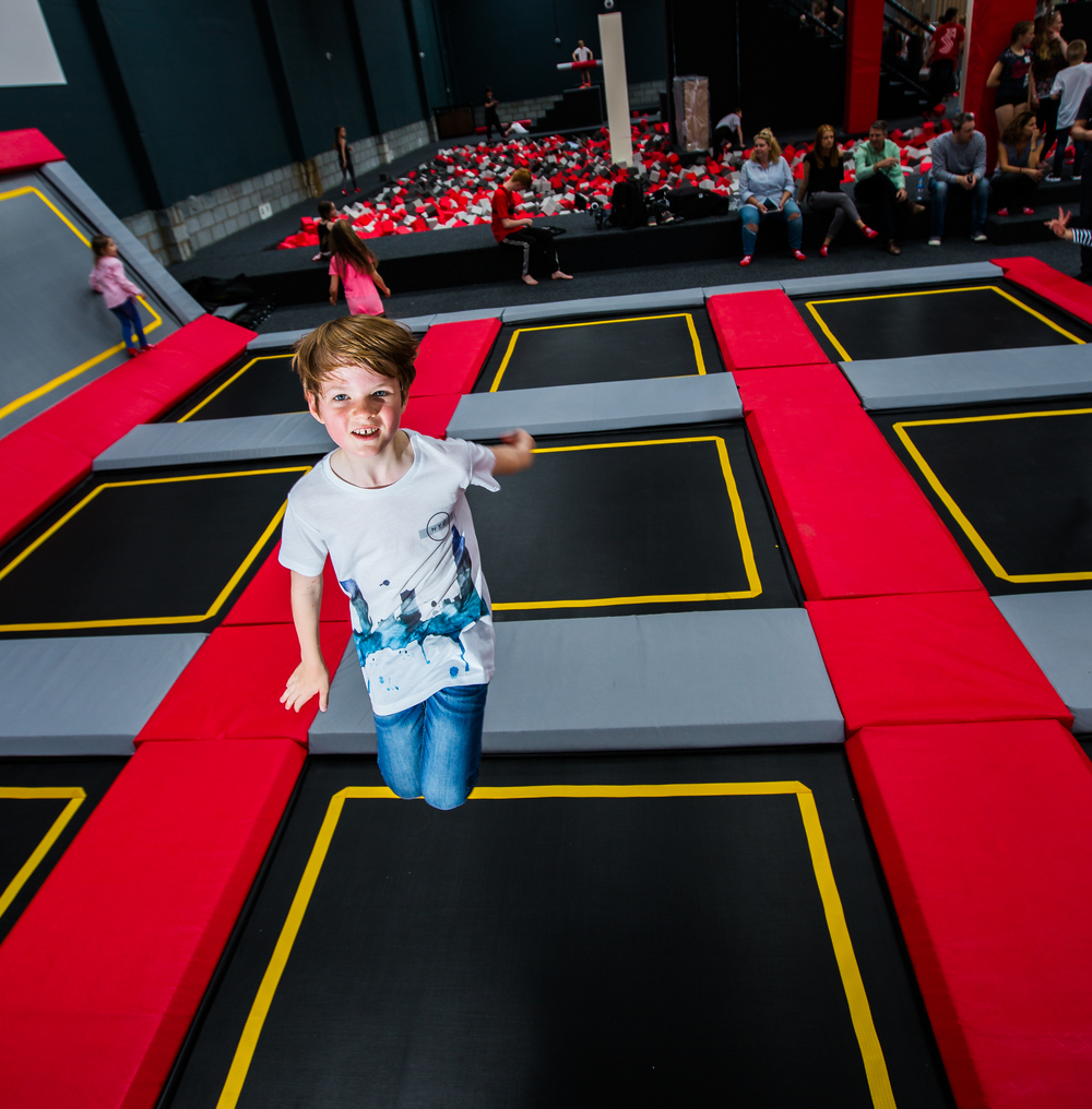 one of our early test pilots trying out the facilities at Jump Evolution Indoor trampoline park in Romford Essex