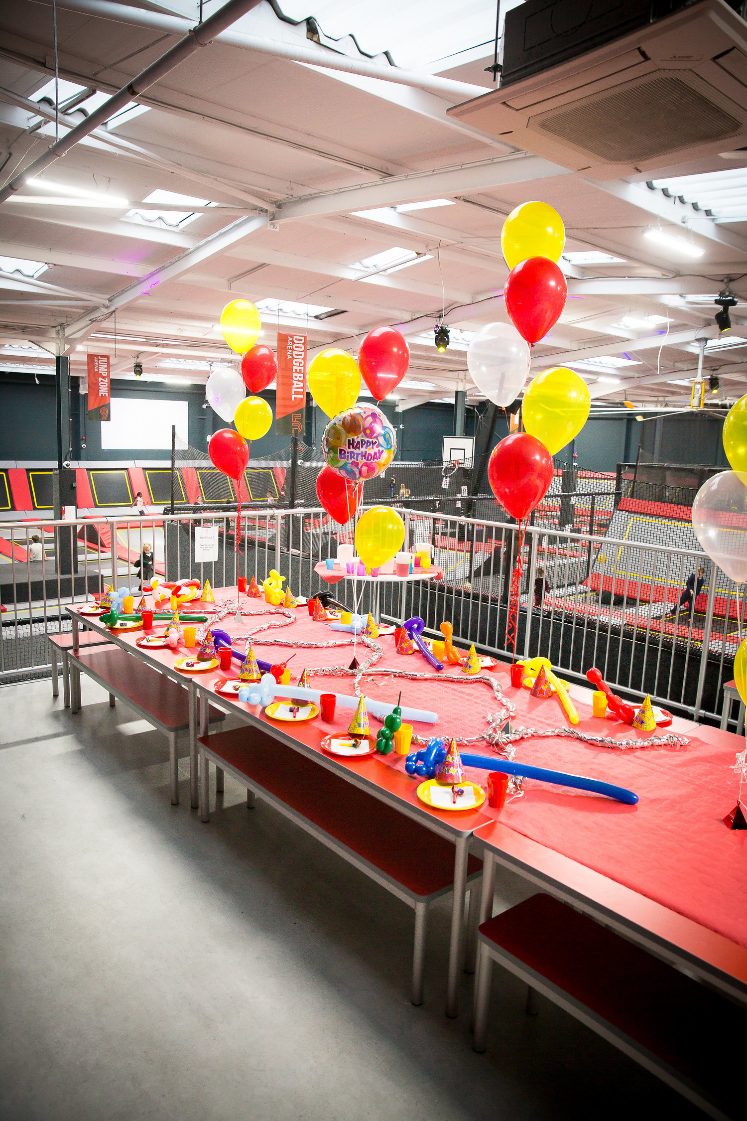 All Setup For A Birthday Party At Our Essex Trampoline Park
