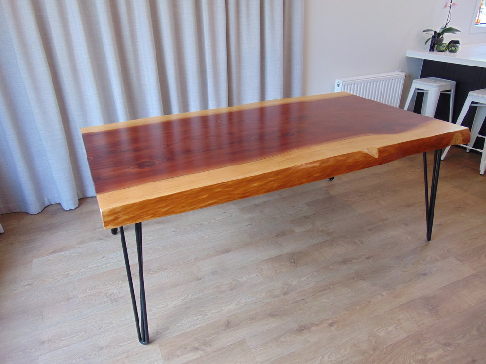 A real Texwood classic with pure oil finish and bespoke hairpin legs. A table made to be used, that will last and tell stories in time.