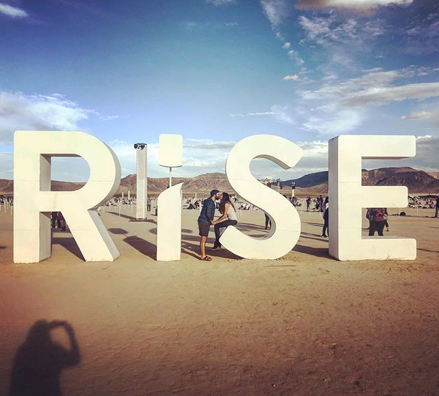 #Rise and #conquer...until the lightening strikes.  Then run to your car which you have no idea where you parked and endure the storm while searching for it with your soggy lanterns and broken dreams of a Tangled movie moment in tow. . . . @risefestival #risefestival  #KissHerAgain