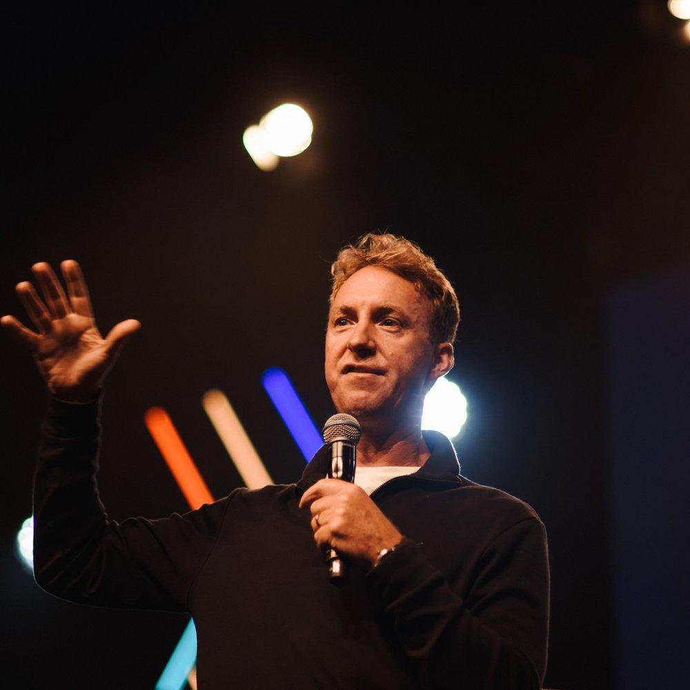 Archie Coates,  St Peter's Brighton , speaking at Focus 2018.