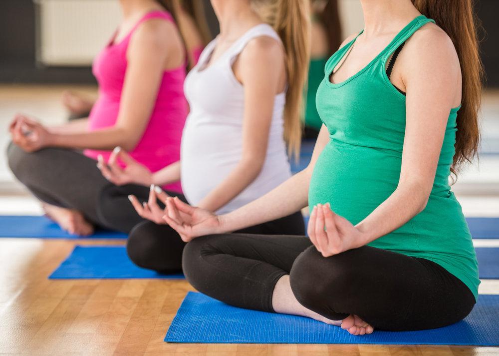 Yogainspirert trening på Bekken og Barn avd. Skøyen