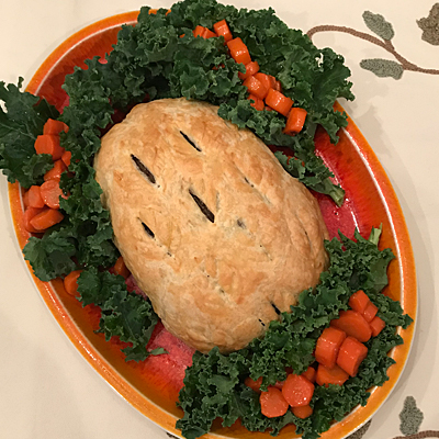 Turkey Wellington recipe from Veg News Nov Dec 2017 issue