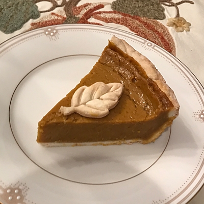 Pumpkin Pie from  Chloe's Vegan Desserts