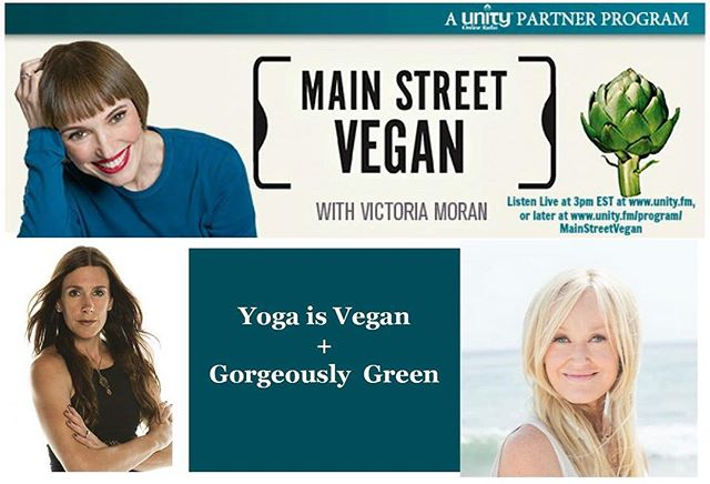 Oh happy day! Today I have the opportunity to talk about my passion project @yogaisvegan on today's @mainstreetvegan with Victoria Moran!  #vegan #yoga #yogaisvegan #veganism #ahimsa #conciousness #meditation #love #yogainspiration #yogapractice #namaste #om #gratitude #animalrights