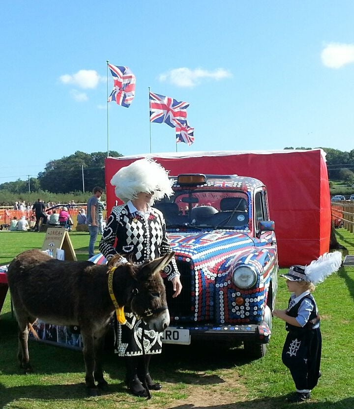 Di with Prince Joseph at Isle of Wight Donkey Sanctuary