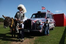 Pearly Queen Diane with Pearly Prince Joseph, Princess Daisy and pearly cab!