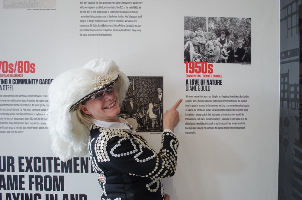 Diane Gould - Pearly Queen of St Pancras - KIngs Cross Visitor Centre Community Project - Love of Nature