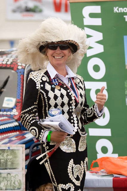 Diane Gould - Pearly Queen of St Pancras - War and Peace Show - Rippledown - Original Pearly Cab