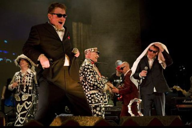 Alf & Di on stage with Madness at Hackney Empire