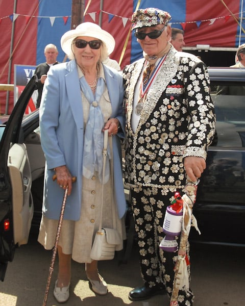 Alf Dole with Dame Vera Lynn at the War & Peace show in Kent