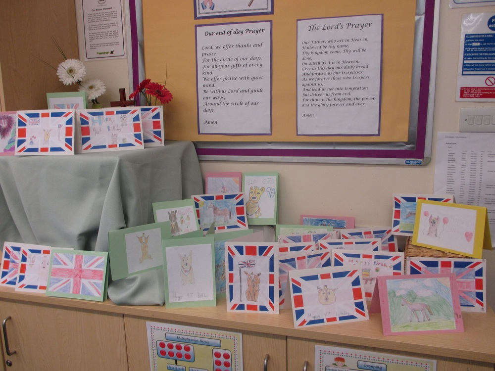 Royal Week High Coniscliffe CE Primary School - Childrens birthday cards for the queen