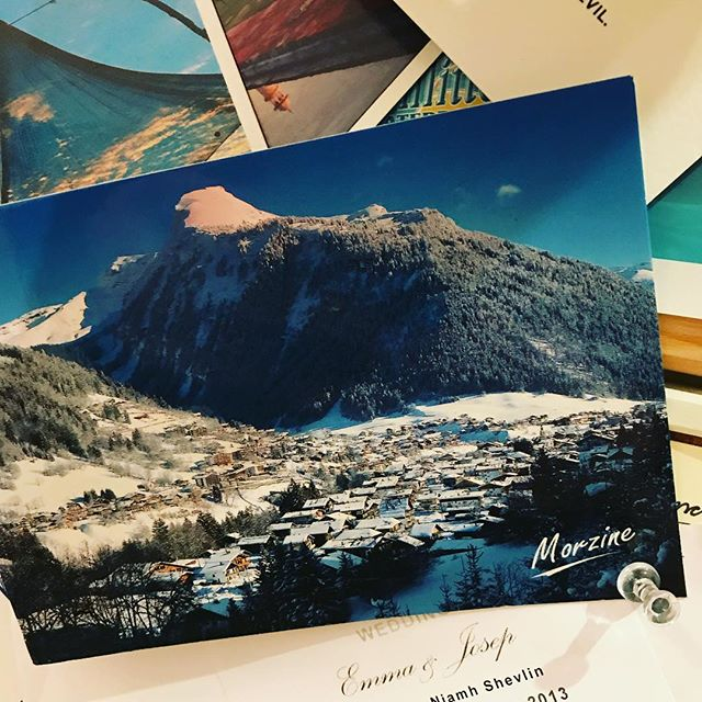 Can't wait to be back in the Alps again soon! Lovely little reminder of my birthday trip came through today from @emeraldstay in Morzine! #nicetouch