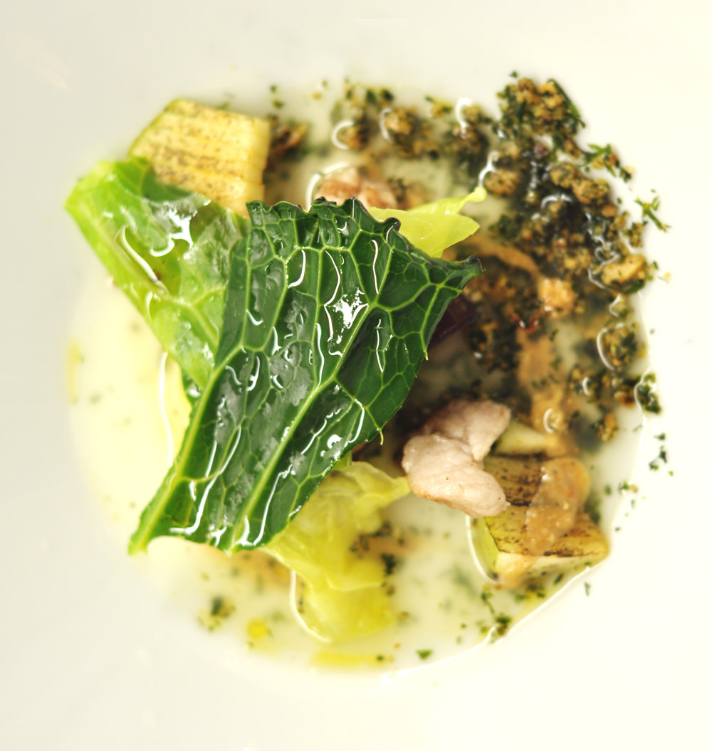 Cabbages, Veal Sweetbreads and Whey